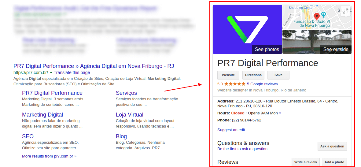 Google Rich Snippets Local Search